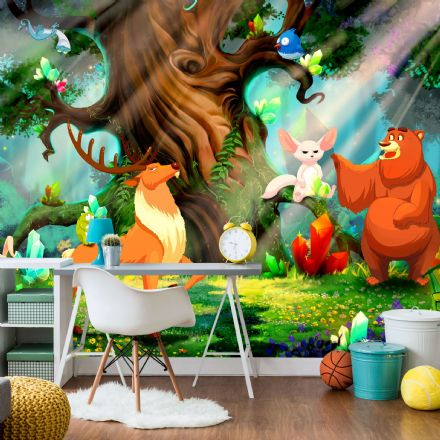 "Nursery Wallpaper natural Flizeline ""Forest Animals"""